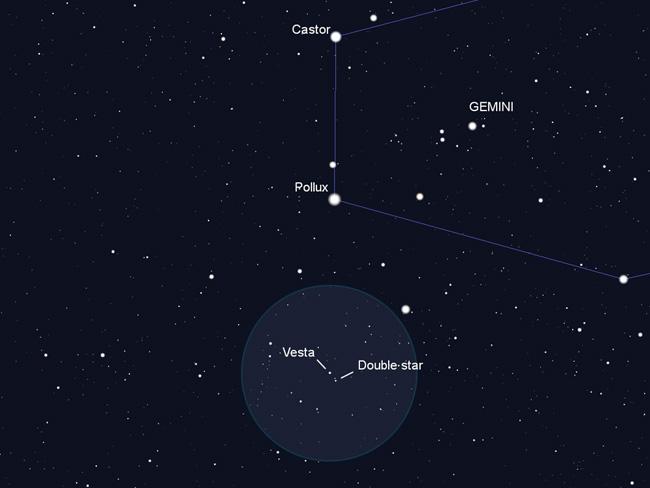 Vesta finder chart