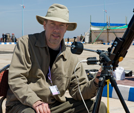 In Egypt photographing the 2006 total eclipse of the sun